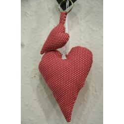 Függő szív (pöttyös)