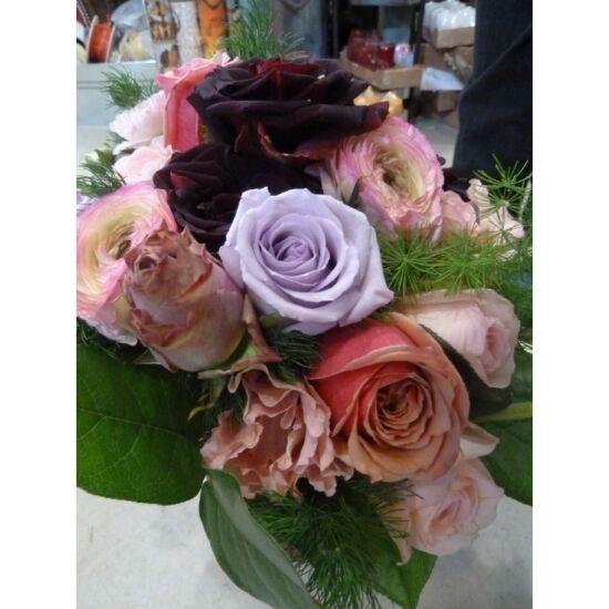 vegyes rózsacsokor